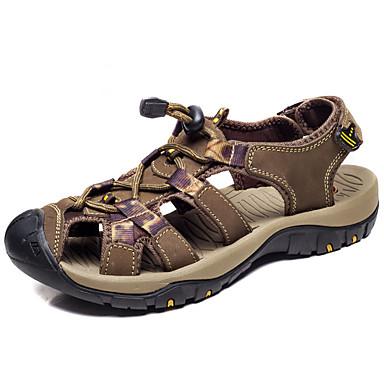 Miehet kengät Nahka Kesä Valopohjat Sandaalit Vesikengät Käyttötarkoitus Ruskea Khaki