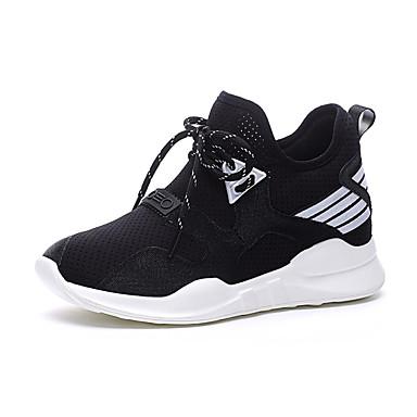 Dámské Boty Látka Jaro Léto Pohodlné Atletické boty Creepers Pro Sportovní Ležérní Bílá Černá Růžová