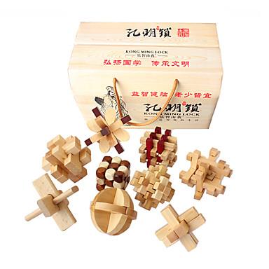 Quebra-Cabeças de Madeira Quebra-Cabeças Inteligentes Quebra-Cabeça Kong Ming Teste de QI De madeira Unisexo Para Meninos Para Meninas Brinquedos Dom
