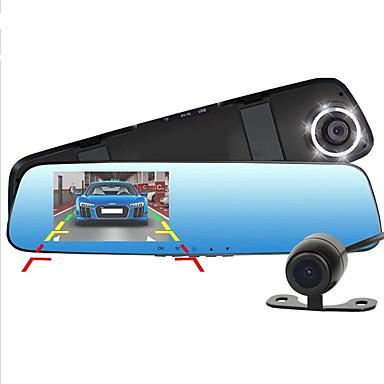 d990 1080p / Full HD 1920 x 1080 سائق سيارة 170 درجة زاوية واسعة 4.3 بوصة داش كام مع كشف الحركة 6 أشعة تحت الحمراء LED مسجل السيارة