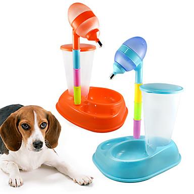 L Katze Hund Futter-Vorrichtungen Haustiere Schüsseln & Füttern Tragbar Orange Gelb Rose Blau