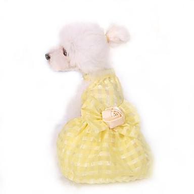 Šaty Oblečení pro psy Roztomilý Narozeniny Módní Princeznovské Žlutá Růžová Světle modrá Kostým Pro domácí mazlíčky