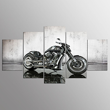 Pingoitetut kanvasprintit5 paneeli Horizontal Painettu Wall Decor For Kodinsisustus