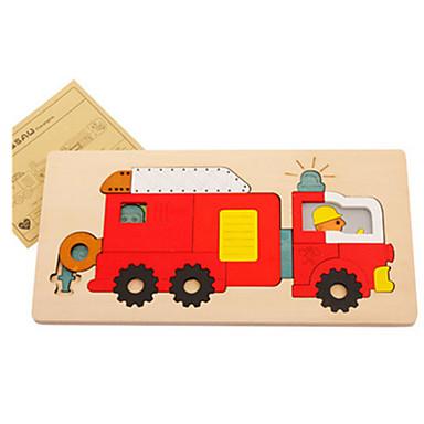 voordelige 3D-puzzels-3D-puzzels Houten modellen Brandweerwagens Plezier Hout Klassiek Kinderen Unisex Speeltjes Geschenk