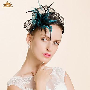 Flachs Feder Stirnbänder Kopfschmuck Hochzeitsgesellschaft elegant femininen Stil