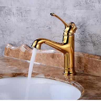 Conjunto Central Válvula Cerâmica Dourado, Torneira pia do banheiro