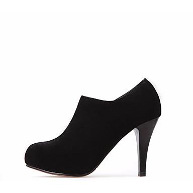 Naiset Bootsit PU Kevät Musta 3-3,75in
