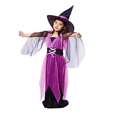 Hexe Cosplay Kostüme Haloween Figuren Party Kostüme Maskerade Film Cosplay Violett Kleid Weihnachten Halloween Karneval Kindertag
