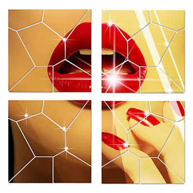 Peilit Muodot 3D Wall Tarrat 3D-seinätarrat Peilitarrat Koriste-seinätarrat, Akryyli Kodinsisustus Seinätarra Seinä Lasi / WC