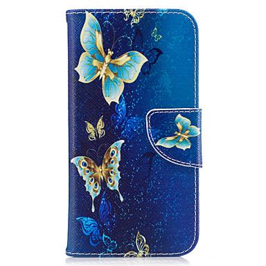 Capinha Para Samsung Galaxy Porta-Cartão Carteira Com Suporte Flip Magnética Estampada Capa Proteção Completa Borboleta Rígida PU Leather