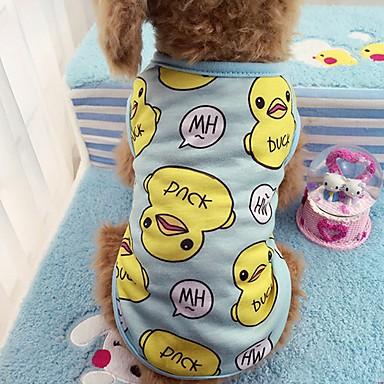 Gato Cachorro Camiseta Colete Roupas para Cães Casual Animal Azul Rosa claro Ocasiões Especiais Para animais de estimação