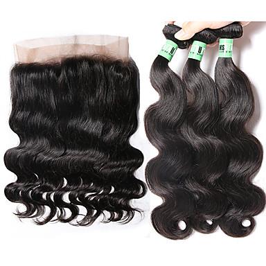 Malaysian Hair Body Wave Human Hair Hair Weft with Closure Human Hair Weaves Soft Human Hair Extensions