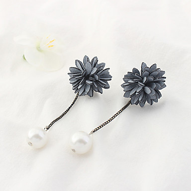 Damen Tropfen-Ohrringe Imitierte Perlen Euramerican Modisch Aleación Blume Schmuck Alltag Modeschmuck