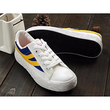 Dámské Boty PU Plátno Jaro Pohodlné Sandály Pro Ležérní Bílá Žlutá