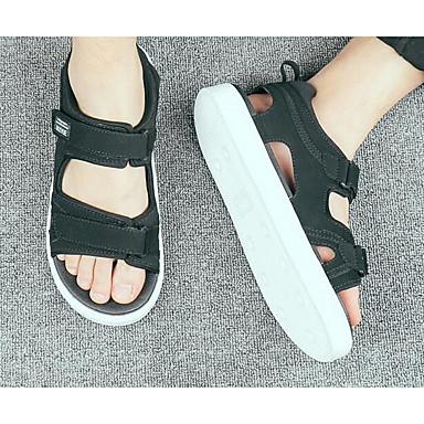 Herren Schuhe Tüll Frühling Komfort Sandalen Für Normal Weiß Schwarz Farbbildschirm