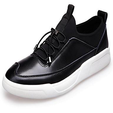 Miehet Oxford-kengät PU Kevät Musta Harmaa Burgundi Tasapohja