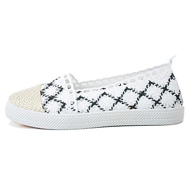 Mulheres Sapatos Tule Verão Conforto Mocassin Solados com Luzes Mocassins e Slip-Ons Sem Salto Ponta Redonda para Diário Casual Preto