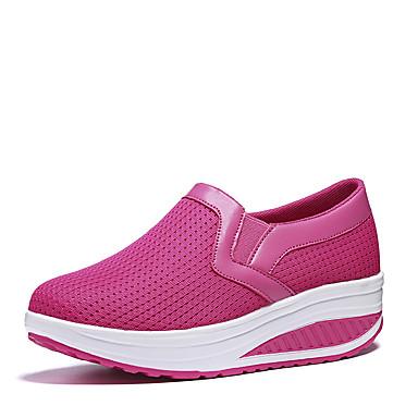 povoljno Ženske cipele-Žene Natikače i mokasinke Platformske cipele Okrugli Toe Til Hodanje Ljeto / Jesen Dark Blue / Sive boje / Fuksija