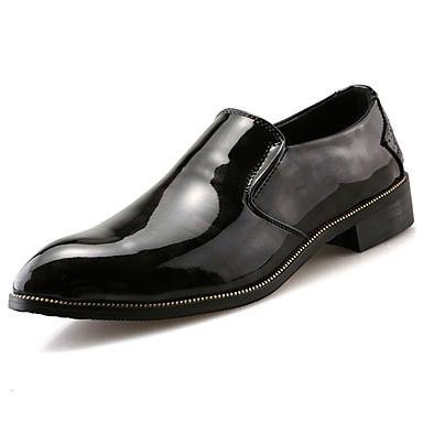 Miehet Oxford-kengät PU Kevät Kesä Matala korko Musta Punainen Alle 1in
