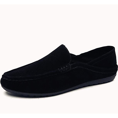 Herren Schuhe Wildleder Frühling Komfort Mokassin Loafers & Slip-Ons Für Normal Schwarz Grau Khaki