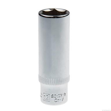 Stahl Schild 6.3mm Serie metrische 6 Winkel verlängerte Hülse 12mm / 1 Unterstützung