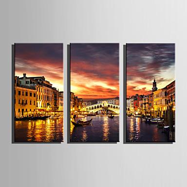 Krajina Moderní evropský styl,Tři panely Plátno Vertikálně Tisk Art Wall Decor For Home dekorace