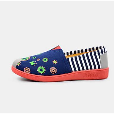 Damen Flache Schuhe Komfort Frühling Leinwand Normal Marinenblau Rot Flach