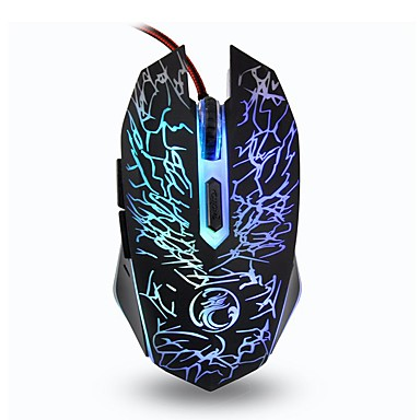 Kabel Gaming Mouse DPI nastavitelná podsvícený 6 USB port napájeno