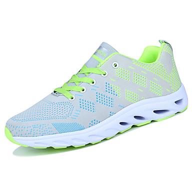 Homens sapatos Tule Primavera/Outono Conforto Tênis Caminhada Cadarço para Casual Laranja Cinzento Azul