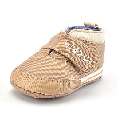 Kinder Baby Schuhe Trillich Winter Herbst Lauflern Loafers & Slip-Ons Klett für Normal Party & Festivität Kleid Marinenblau Khaki