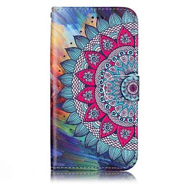 Capinha Para Samsung Galaxy A5(2017) A3(2017) Porta-Cartão Carteira Com Suporte Flip Estampada Com Relevo Capa Proteção Completa Mandala