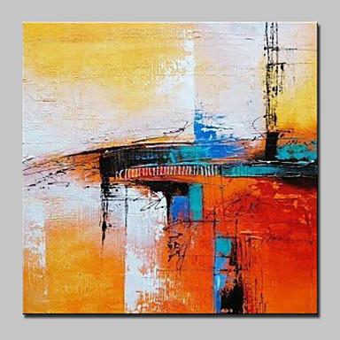 Pintura a Óleo Pintados à mão - Abstrato Abstracto / Moderno / Contemporâneo Tela de pintura / Lona esticada