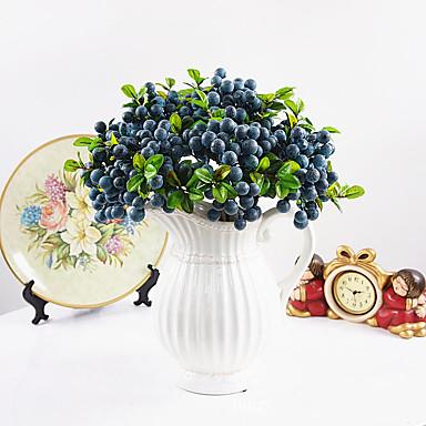 زهور اصطناعية 1 فرع أسلوب بسيط نباتات أزهار الطاولة