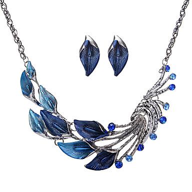 Dámské imitace drahokamu Šperky Set 1 x náhrdelník 1 x pár náušnic - Euramerican Módní Černá Fialová Zelená Modrá Sady šperků Pro Párty