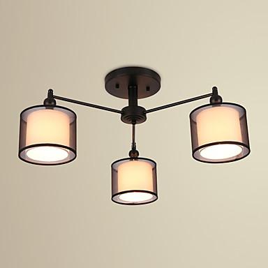 3-luz Montagem do Fluxo Luz Ambiente - LED, 220-240V Lâmpada Não Incluída / 10-15㎡ / E12 / E14