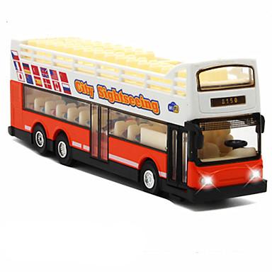 Carros de Brinquedo Carrinhos de Fricção Ônibus Brinquedos Simulação Ônibus Liga de Metal Metal Peças Unisexo Dom