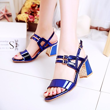 Damen Schuhe PU Frühling Komfort Sandalen Für Normal Rot Blau