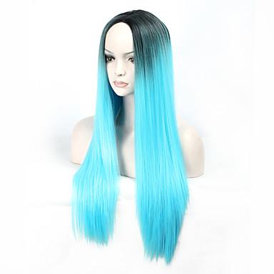Syntetické paruky / Paruky ke kostýmům Volný Umělé vlasy Modrá Paruka Dámské Dlouhý Bez krytky