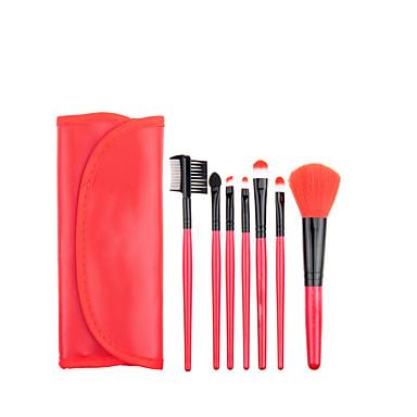7pçs Pincéis de maquiagem Profissional Conjuntos de pincel / Pincel para Blush / Pincel para Sombra Pêlo Sintético Clássico / Escova Esquilo