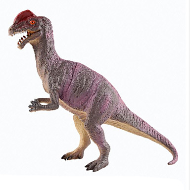 Dragões & Dinossauros Brinquedos Figuras de dinossauro Dinossauro jurássico Dilophosaurus Triceratops Tiranossauro Rex Silicone Plástico