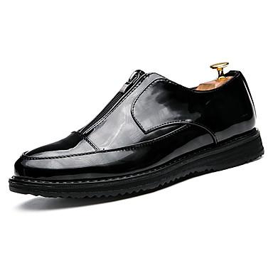 Homens sapatos Couro Ecológico Primavera / Outono Conforto Oxfords Preto / Festas & Noite