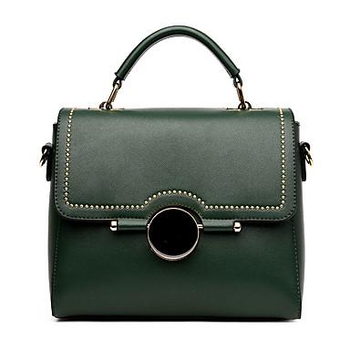 Damen Taschen Winter PU für Normal Grün Schwarz Rosa