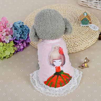 Hund Kleider Hundekleidung Lässig/Alltäglich Modisch Prinzessin Blau Rosa Kostüm Für Haustiere