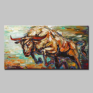 هانغ رسمت النفط الطلاء رسمت باليد - حيوانات الحديث / الطراز الأوروبي تشمل الإطار الداخلي / امتدت قماش