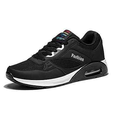 Miesten kengät Tyll Kevät Syksy Comfort Urheilukengät Kävely Solmittavat varten Urheilullinen Musta Tumman sininen Punainen