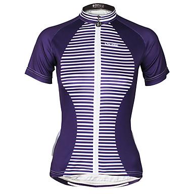 ILPALADINO Mulheres Manga Curta Camisa para Ciclismo Moto Camisa / Roupas Para Esporte, Secagem Rápida, Resistente Raios Ultravioleta,