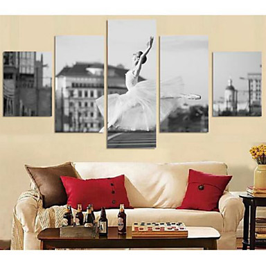 Kunstdrucke Abstrakte Porträt Modern,Fünf Panele Horizontal Druck Wand Dekoration For Haus Dekoration