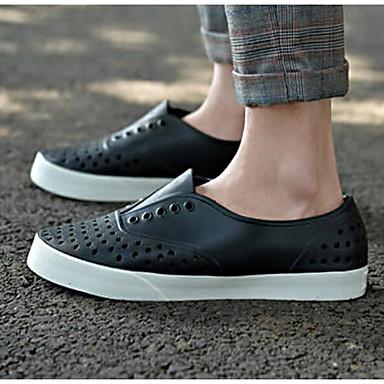 Naiset Kengät PU Kevät Comfort Sandaalit Käyttötarkoitus Kausaliteetti Valkoinen Musta Punainen