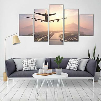Kunstdrucke Landschaft Modern,Fünf Panele Horizontal Druck Wand Dekoration For Haus Dekoration
