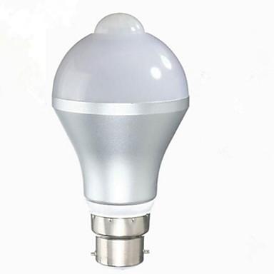 1PC 5 W 480 lm B22 / E26 / E27 مصابيح صغيرة LED A60(A19) 10 الخرز LED SMD 5730 الأشعة تحت الحمراء الاستشعار / التحكم في الإضاءة أبيض دافئ / أبيض كول 85-265 V / قطعة / بنفايات